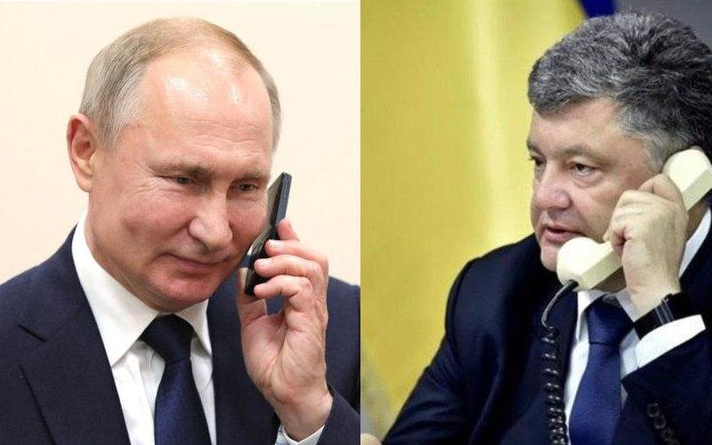 Опубликована запись телефонного разговора Владимира Путина и Петра Порошенко, датируемая 2015 годом